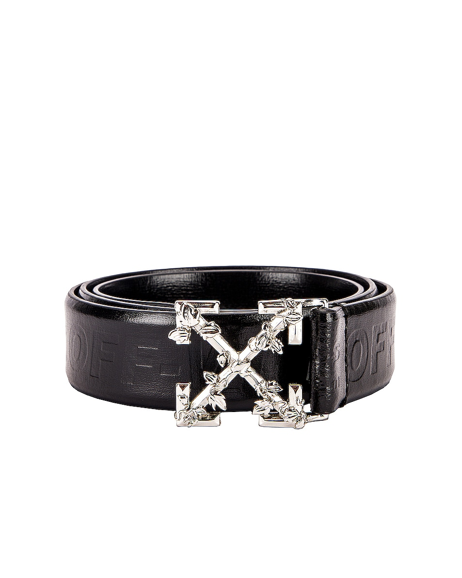 Image 1 of OFF-WHITE Leather Industrial Belt in Black