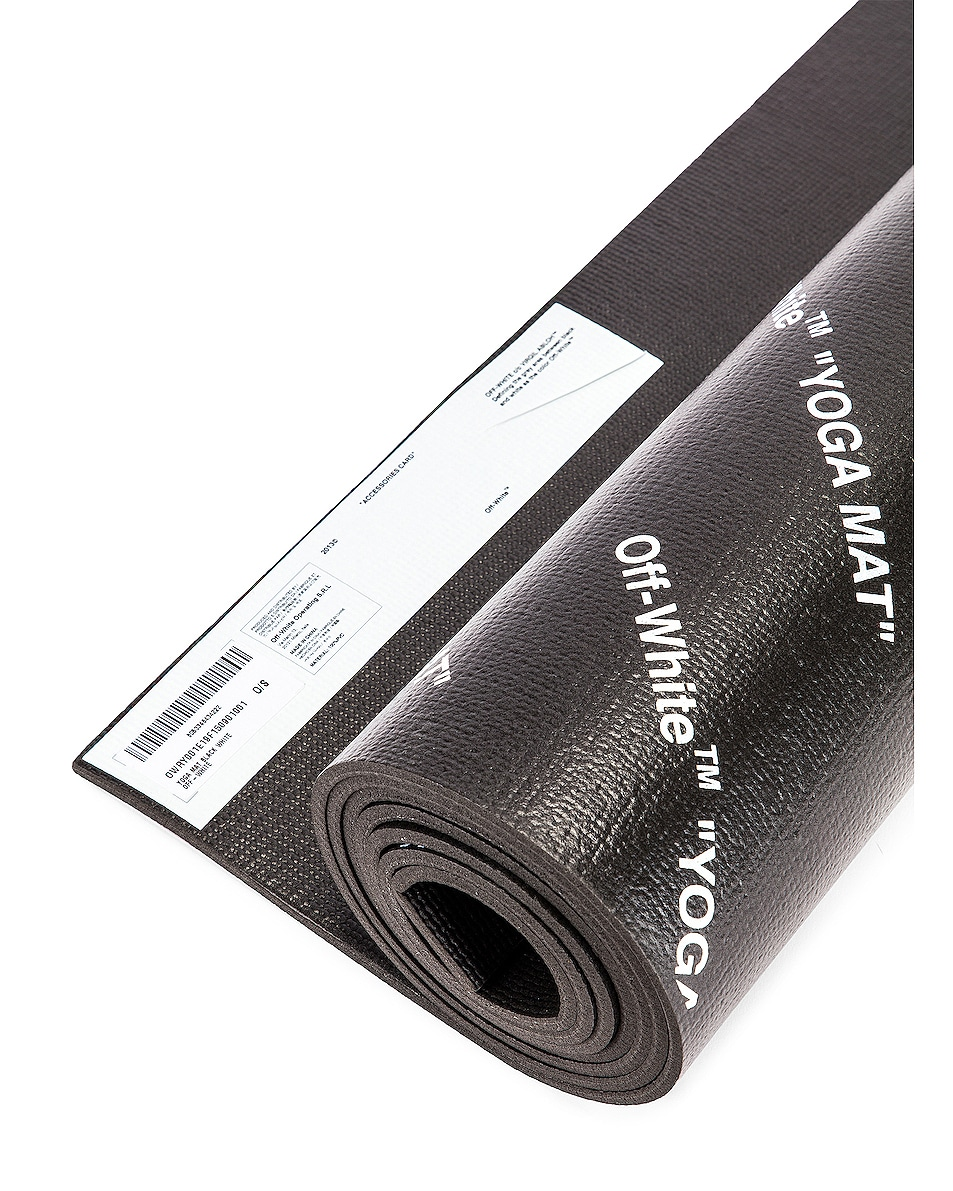 Image 5 of OFF-WHITE Yoga Mat in Black & White