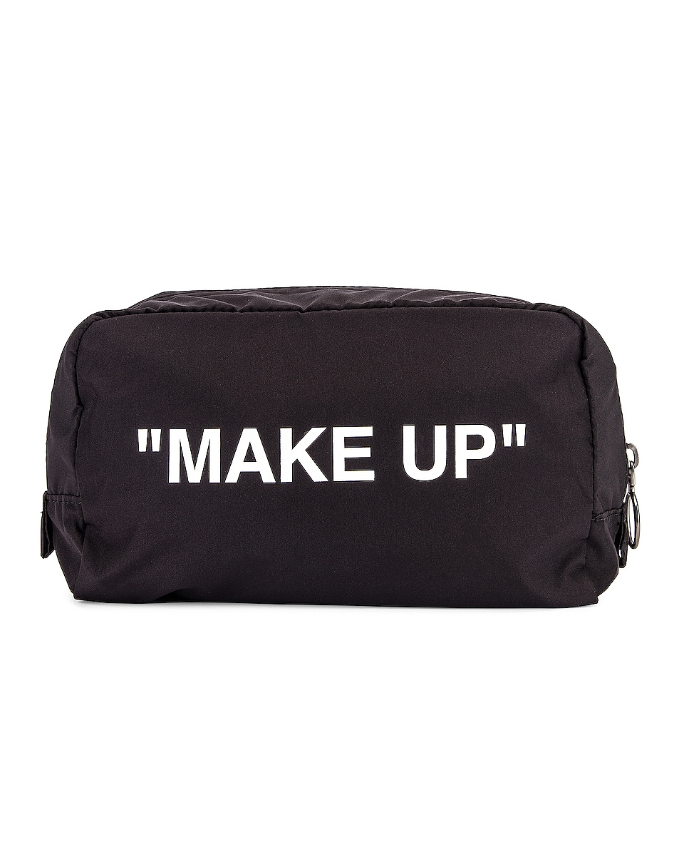 Image 1 of OFF-WHITE Make Up Pouch in Black & White