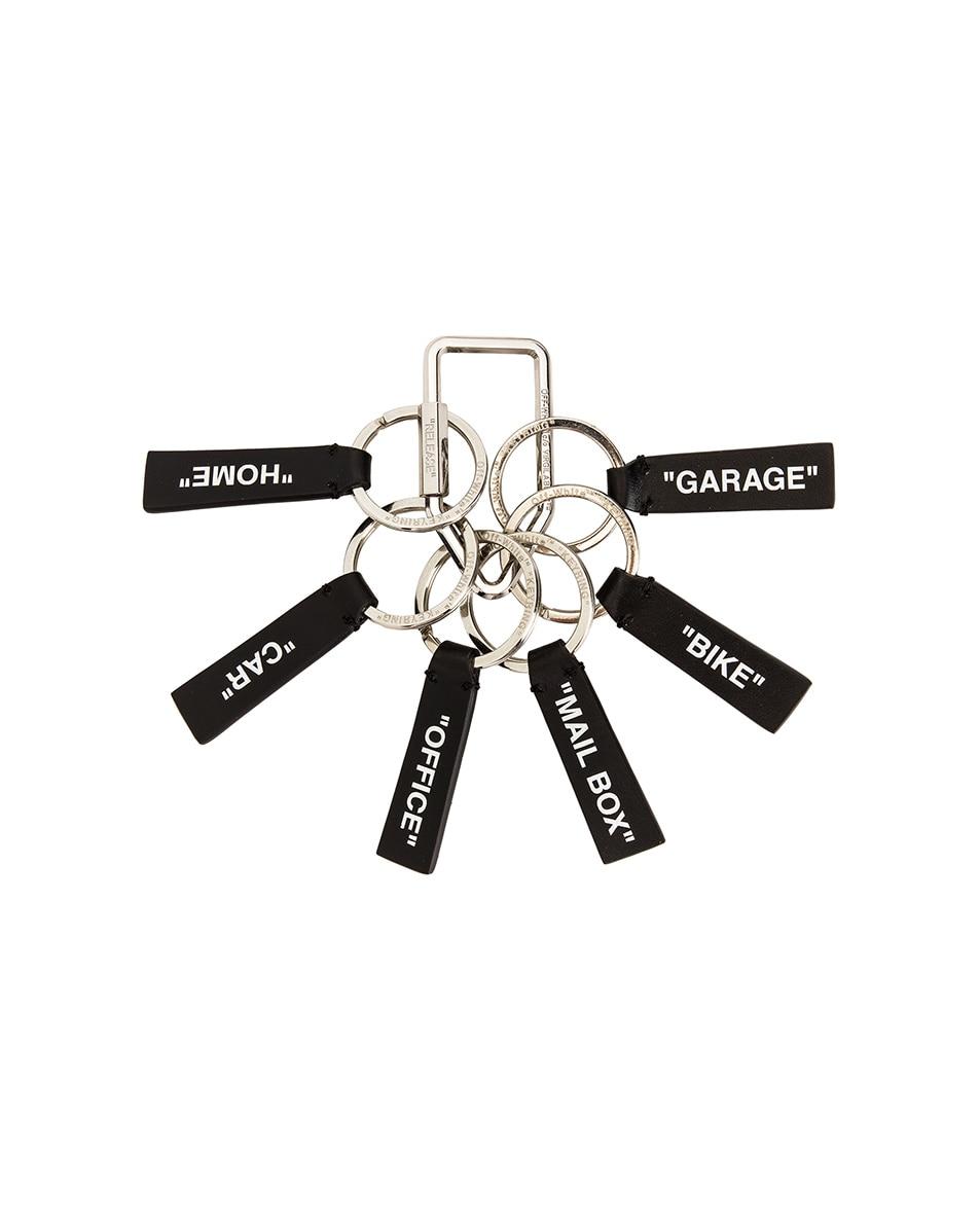 Image 1 of OFF-WHITE Label Keyring in Black