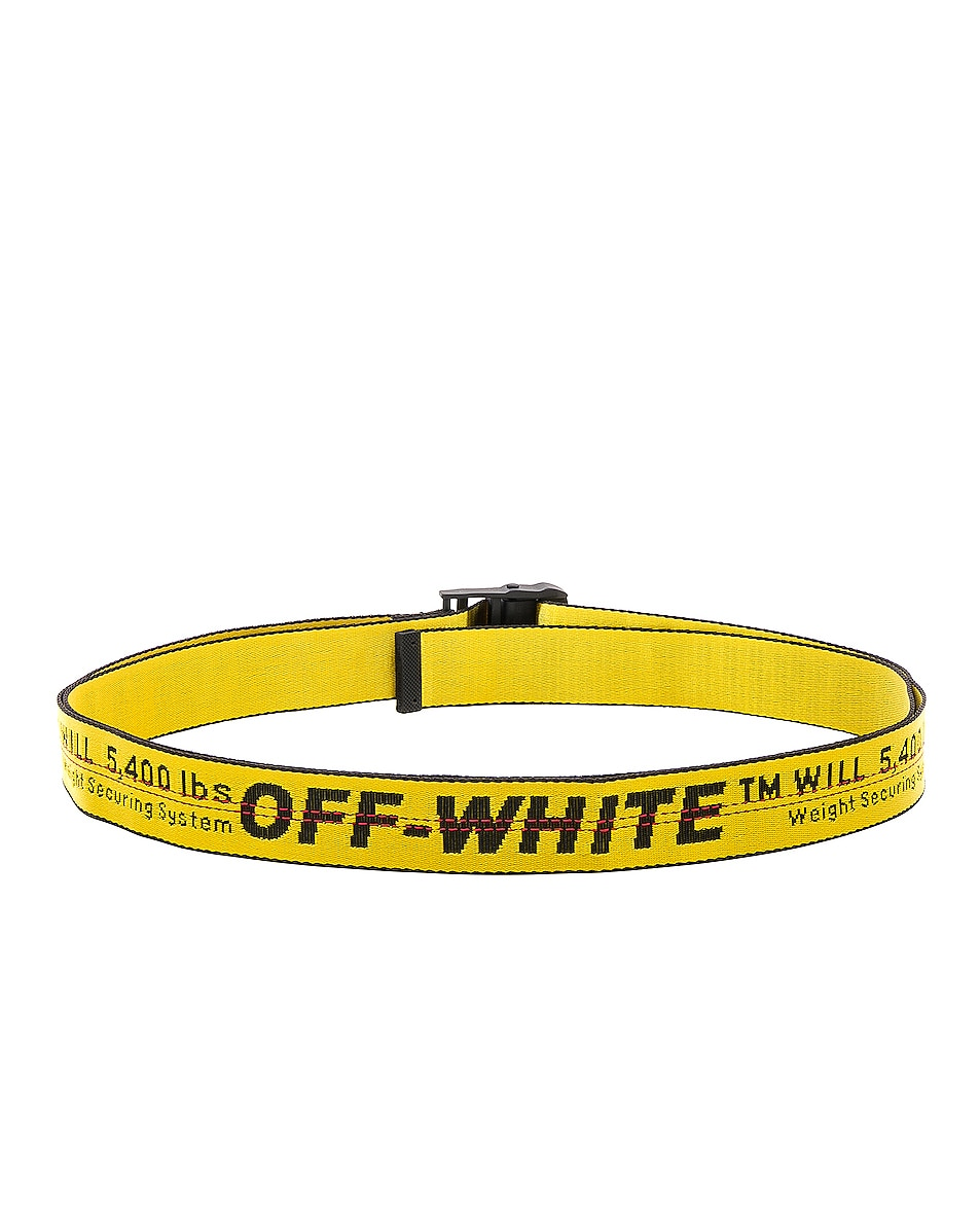 Image 3 of OFF-WHITE Classic Industrial Belt in Yellow & Black