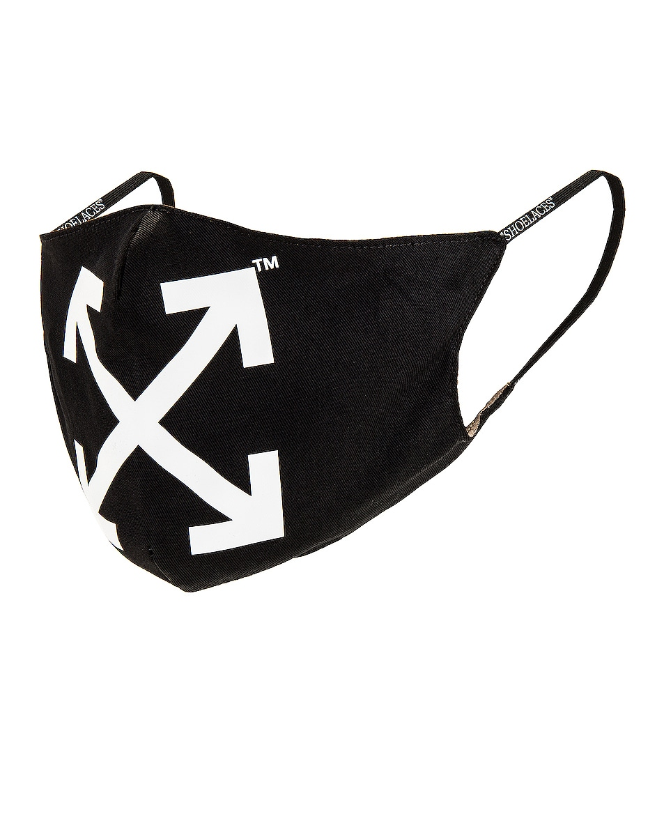 Image 1 of OFF-WHITE Arrow Simple Mask in Black & White