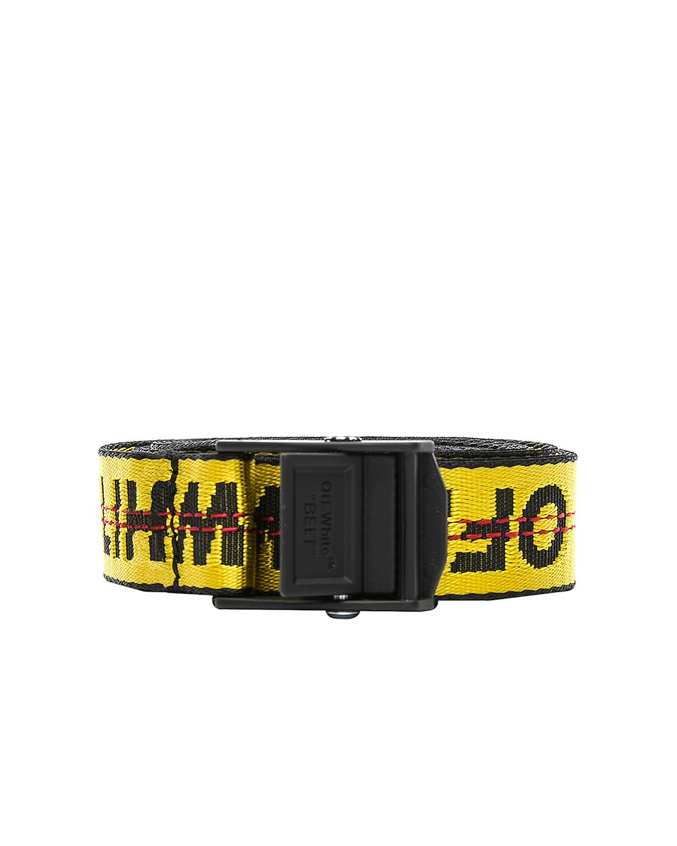 Image 1 of OFF-WHITE Mini Industrial Belt in Yellow & Black