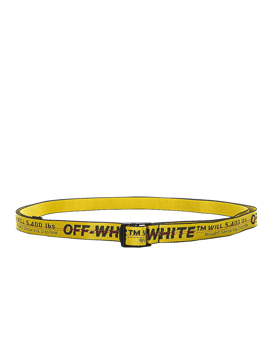 Image 2 of OFF-WHITE Mini Industrial Belt in Yellow & Black