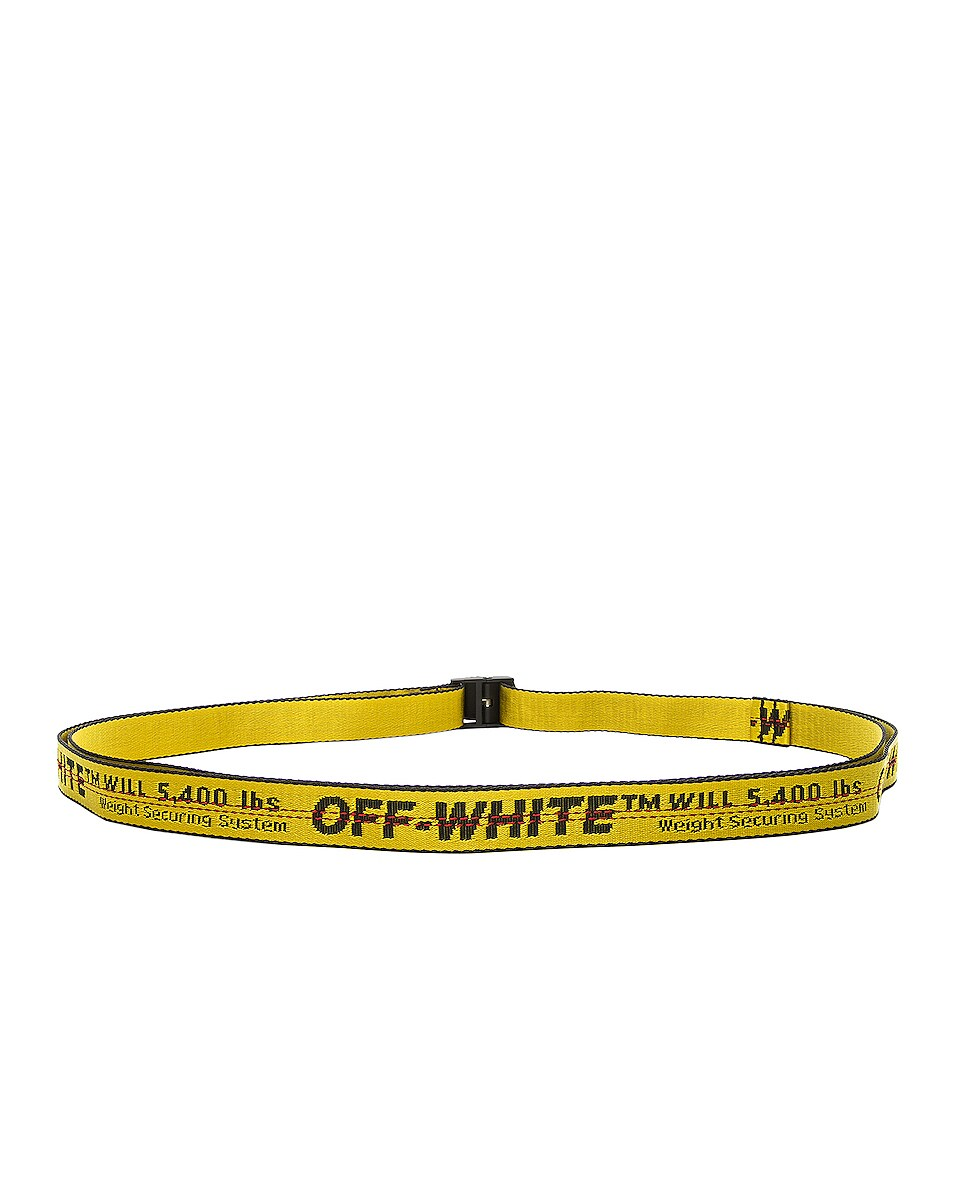 Image 3 of OFF-WHITE Mini Industrial Belt in Yellow & Black