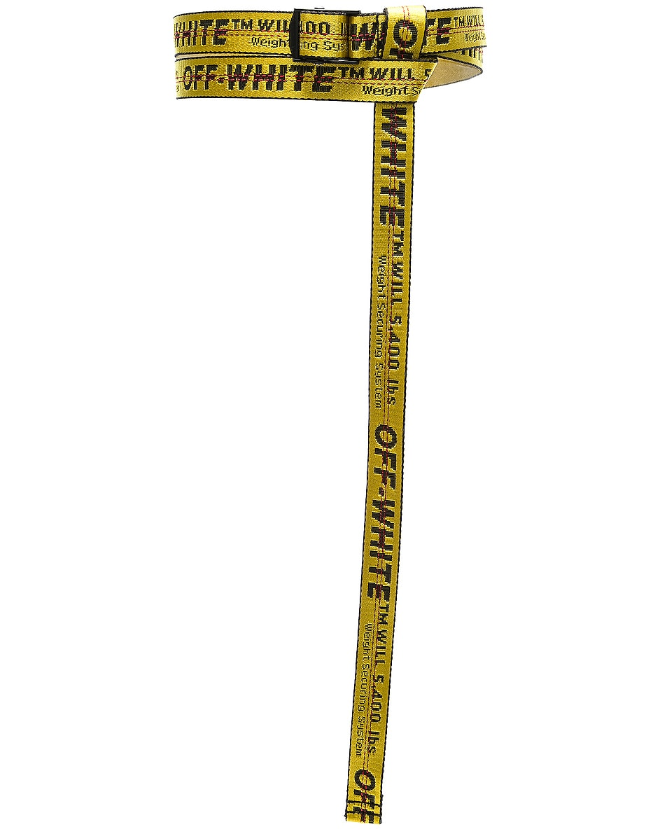 Image 4 of OFF-WHITE Mini Industrial Belt in Yellow & Black