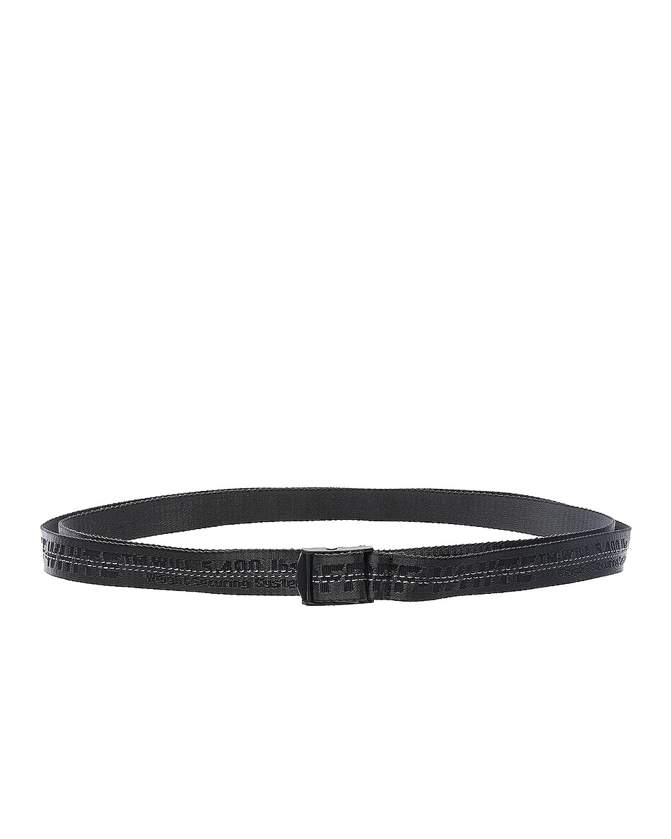 Image 2 of OFF-WHITE Mini Industrial Belt in Black & Black