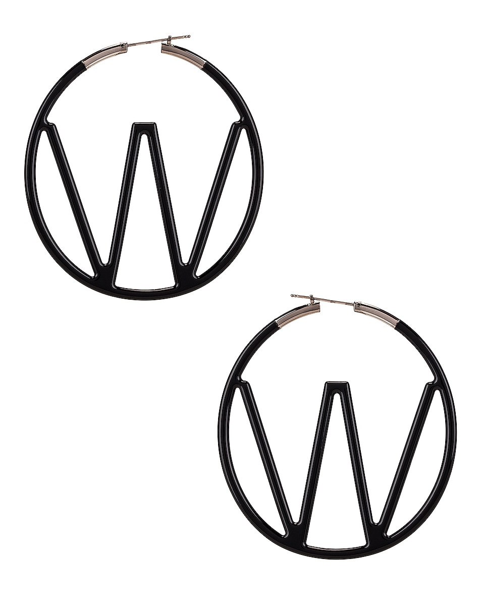 Image 1 of OFF-WHITE W Earrings in Black