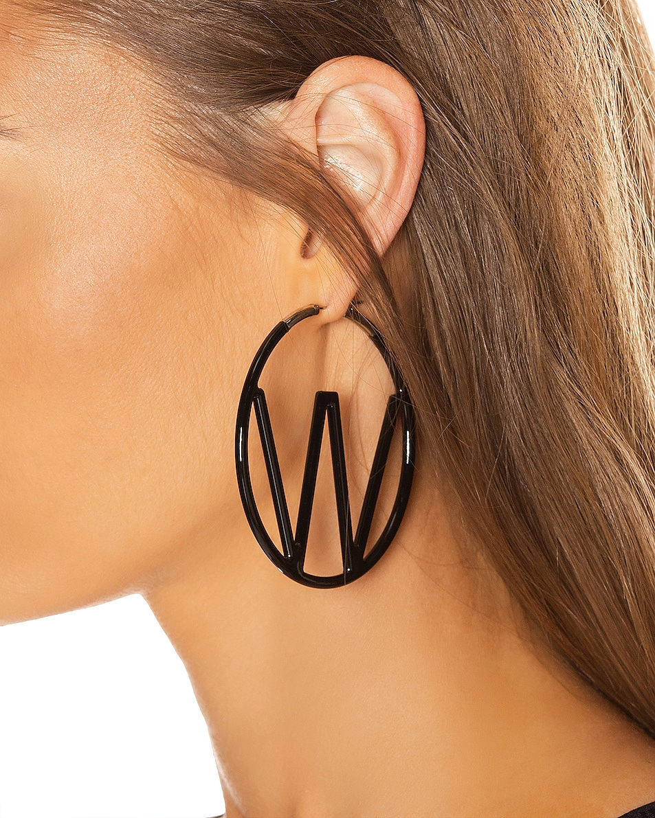 Image 2 of OFF-WHITE W Earrings in Black