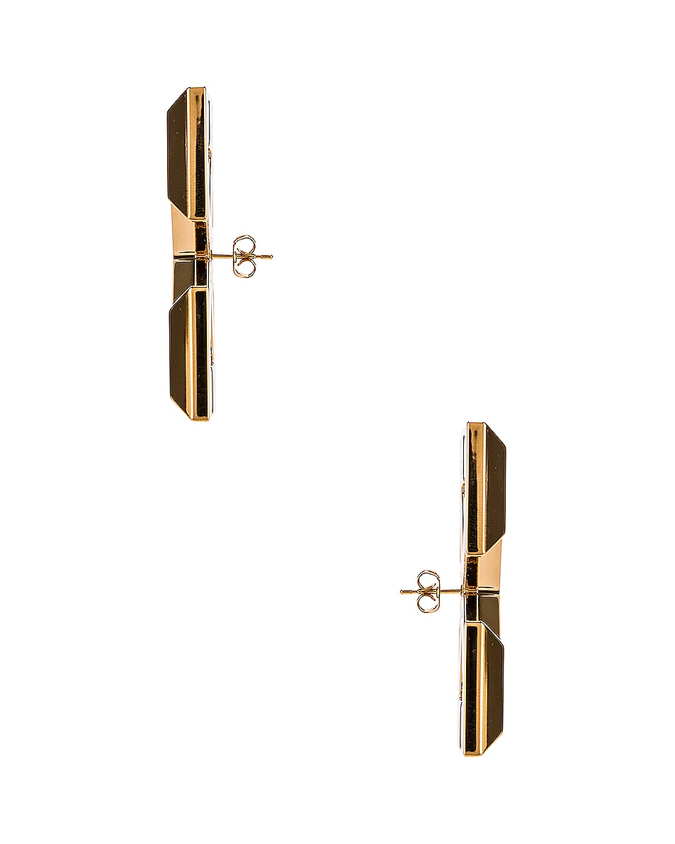Image 3 of OFF-WHITE Big Arrow Earrings in Gold