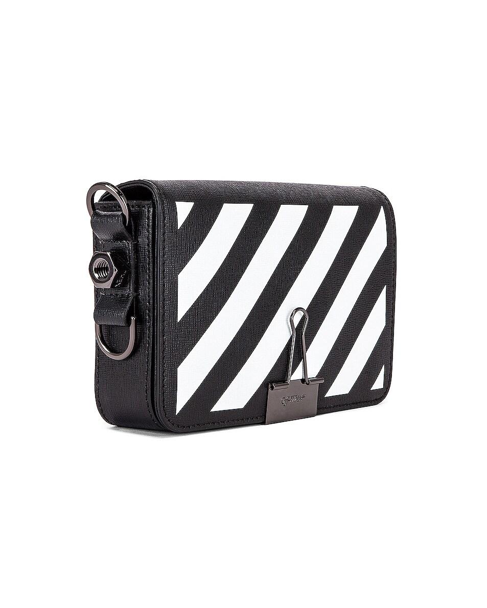Image 4 of OFF-WHITE Diagonal Mini Flap Bag in Black & White