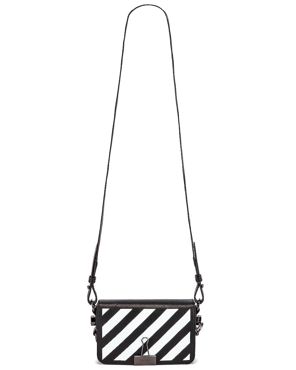 Image 6 of OFF-WHITE Diagonal Mini Flap Bag in Black & White