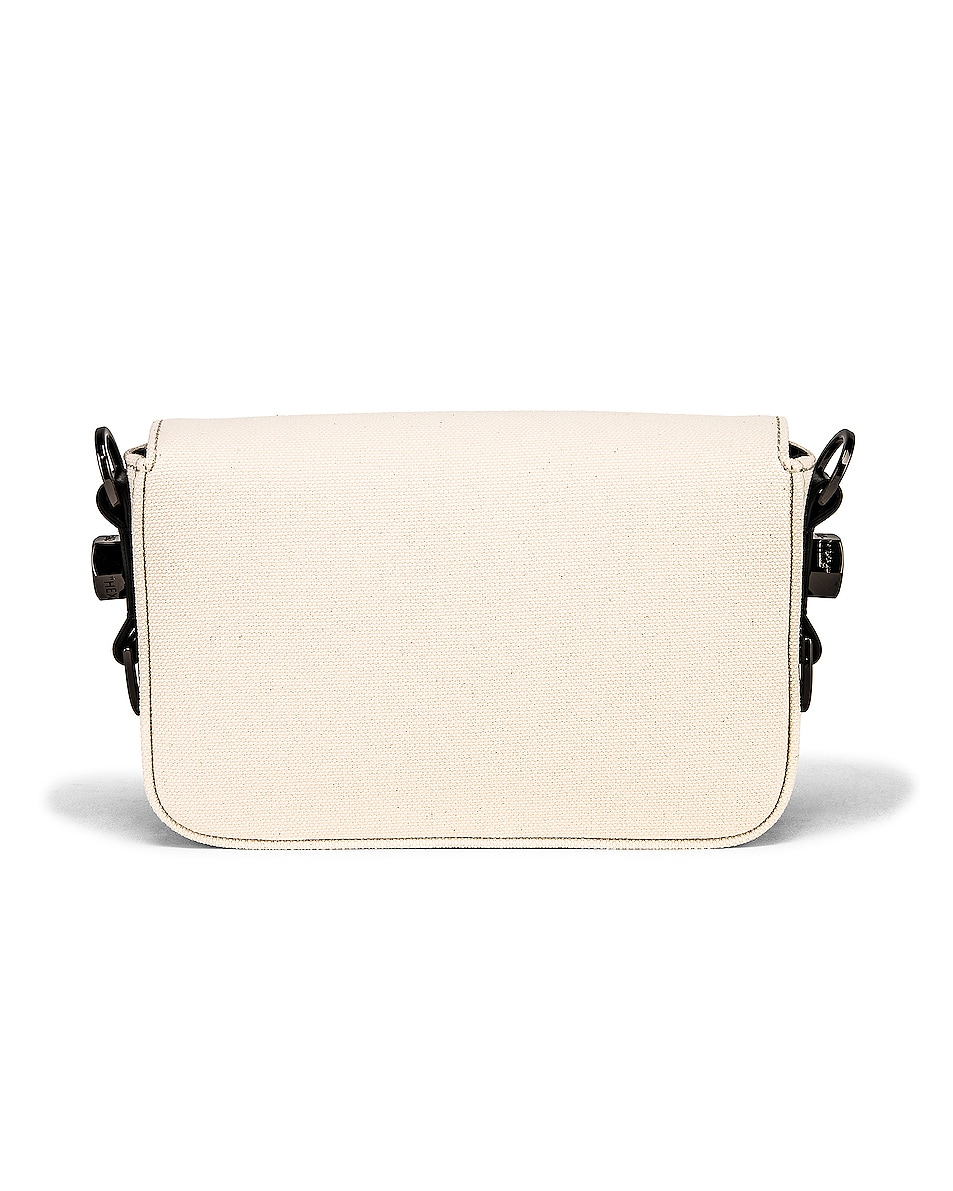 Image 3 of OFF-WHITE Canvas Mini Flap Bag in Beige & Black