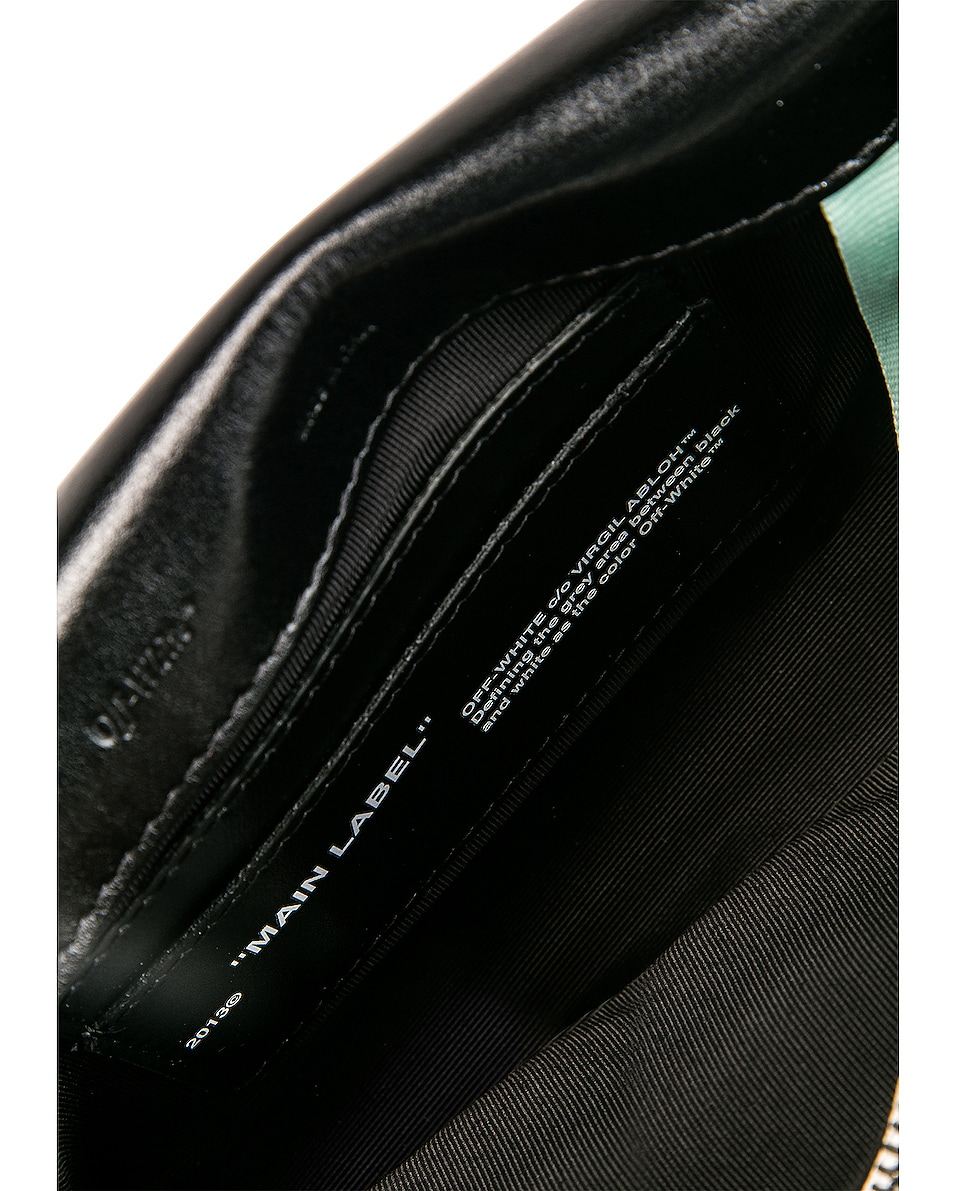 Image 7 of OFF-WHITE Canvas Mini Flap Bag in Beige & Black