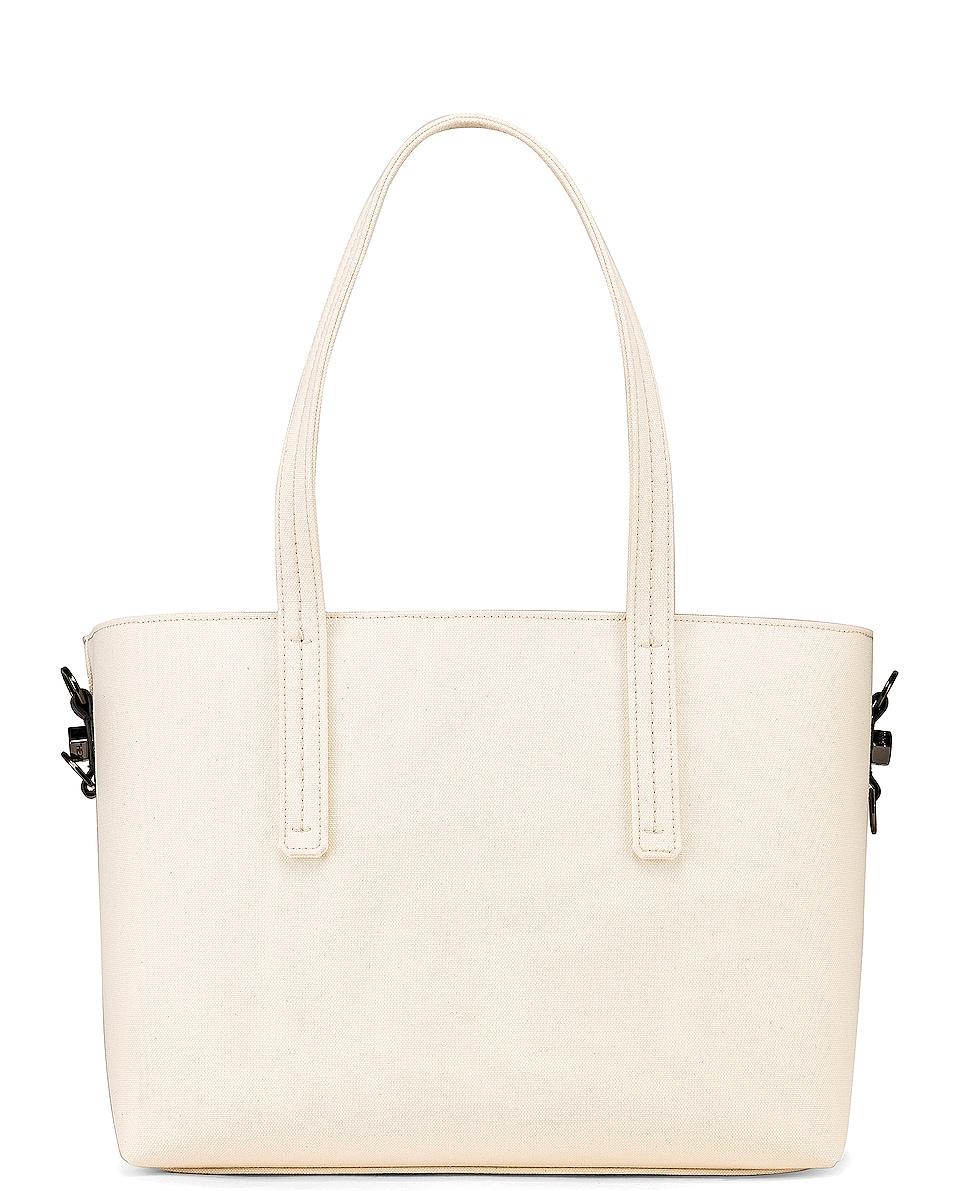 Image 3 of OFF-WHITE Canvas Shopper Bag in Beige & Black