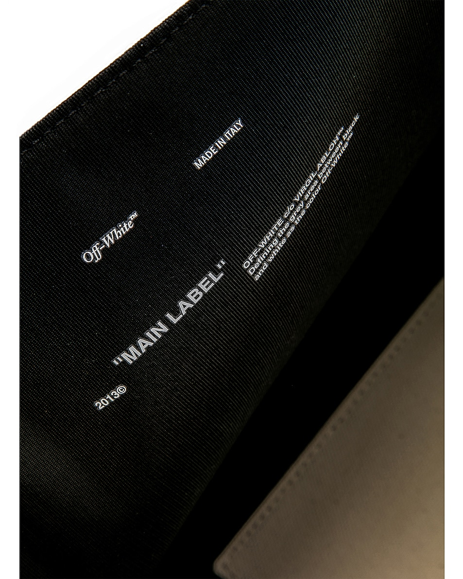 Image 6 of OFF-WHITE Canvas Shopper Bag in Beige & Black