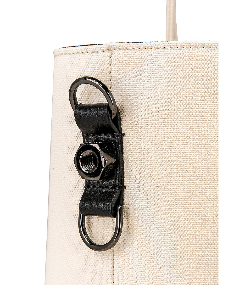 Image 7 of OFF-WHITE Canvas Shopper Bag in Beige & Black