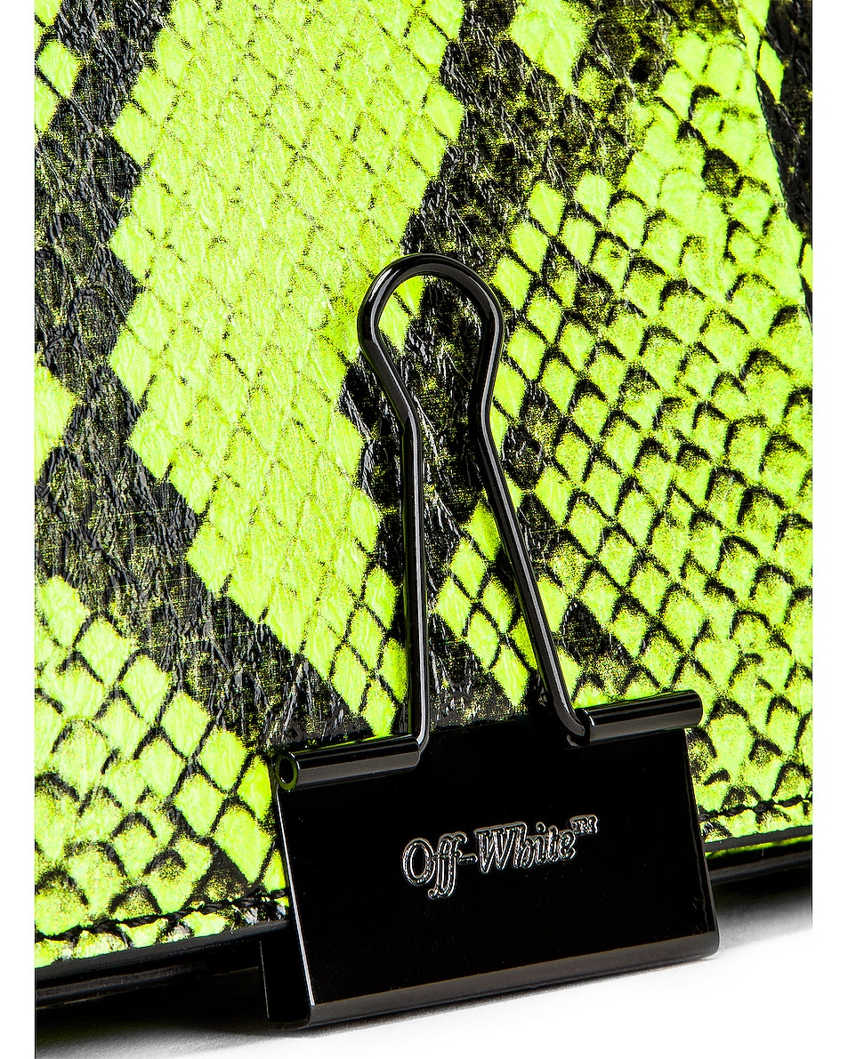 Image 8 of OFF-WHITE Python Mini Flap Bag in Fluo Yellow