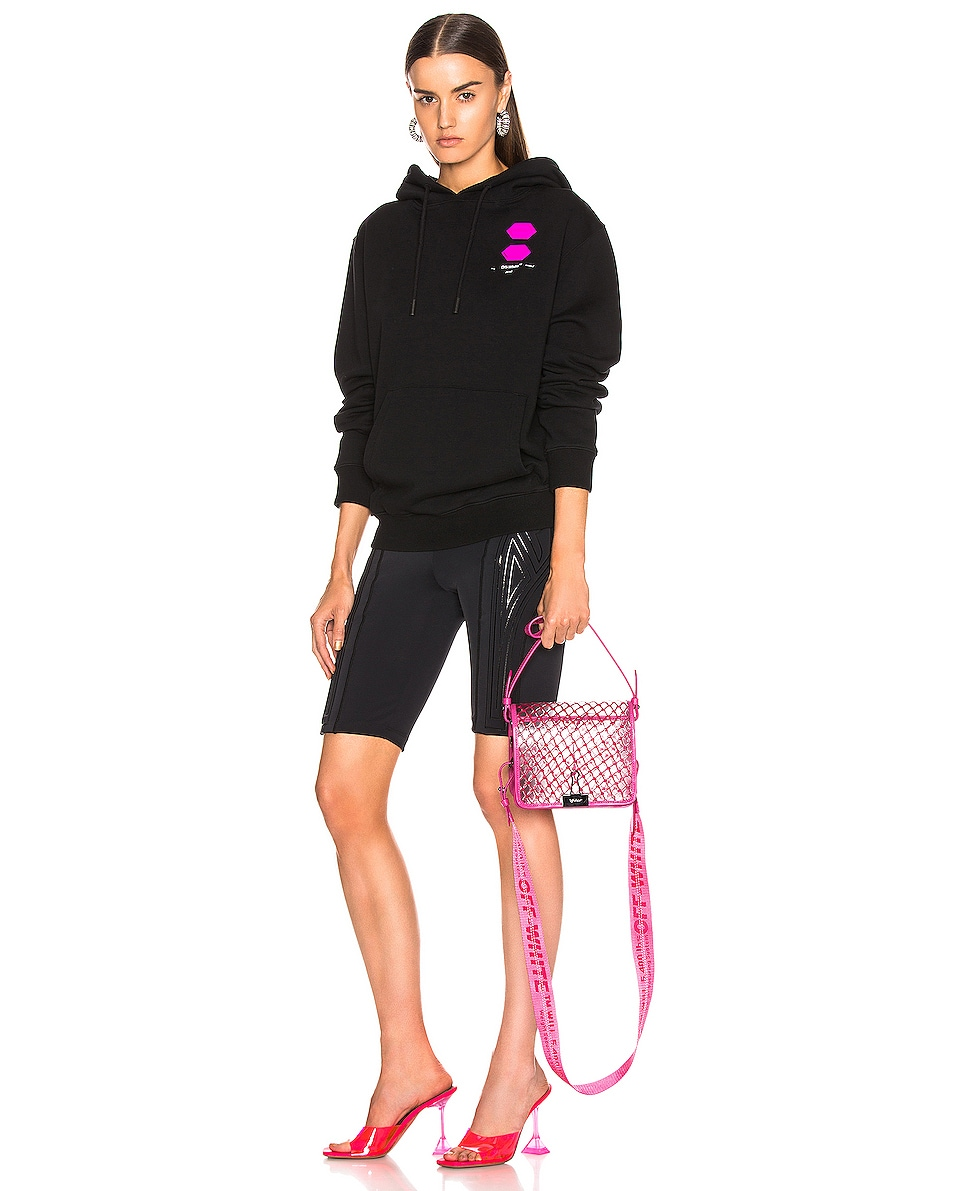 Image 2 of OFF-WHITE PVC Net Flap Bag in Fuchsia