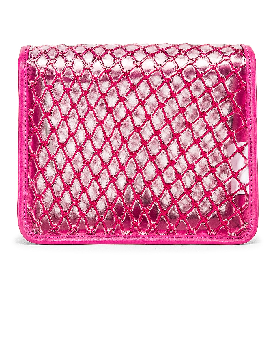 Image 3 of OFF-WHITE PVC Net Flap Bag in Fuchsia