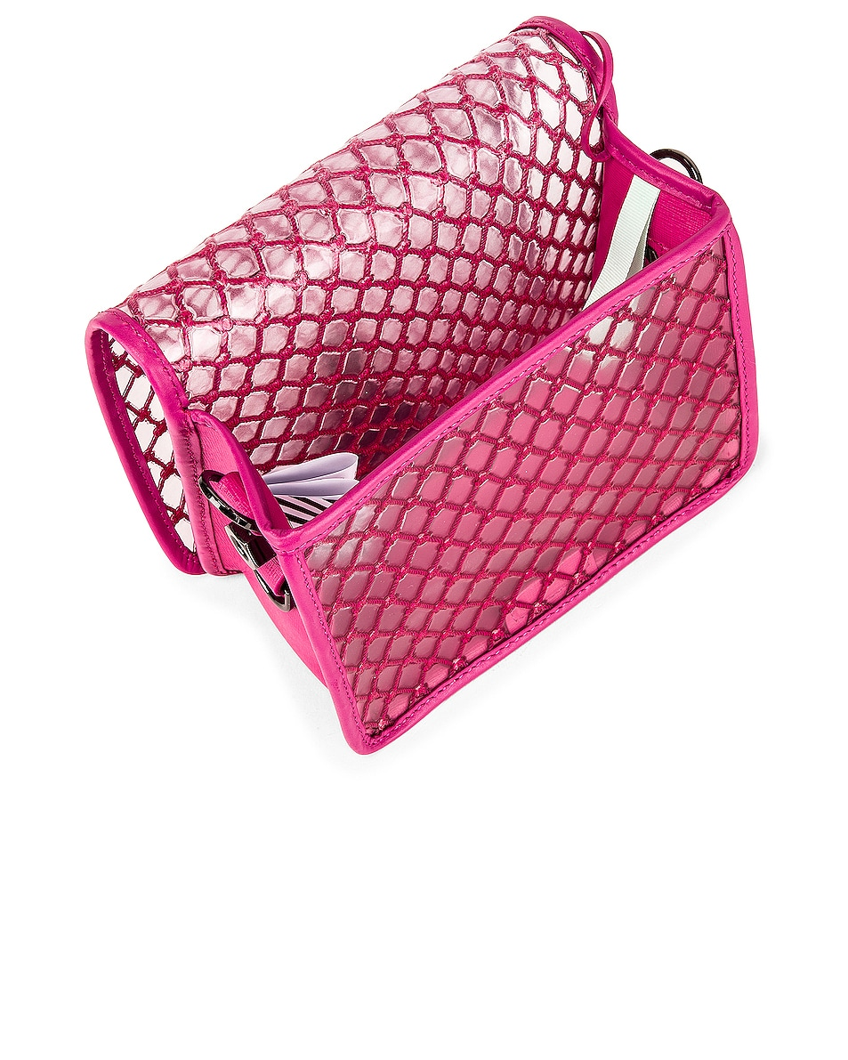 Image 5 of OFF-WHITE PVC Net Flap Bag in Fuchsia