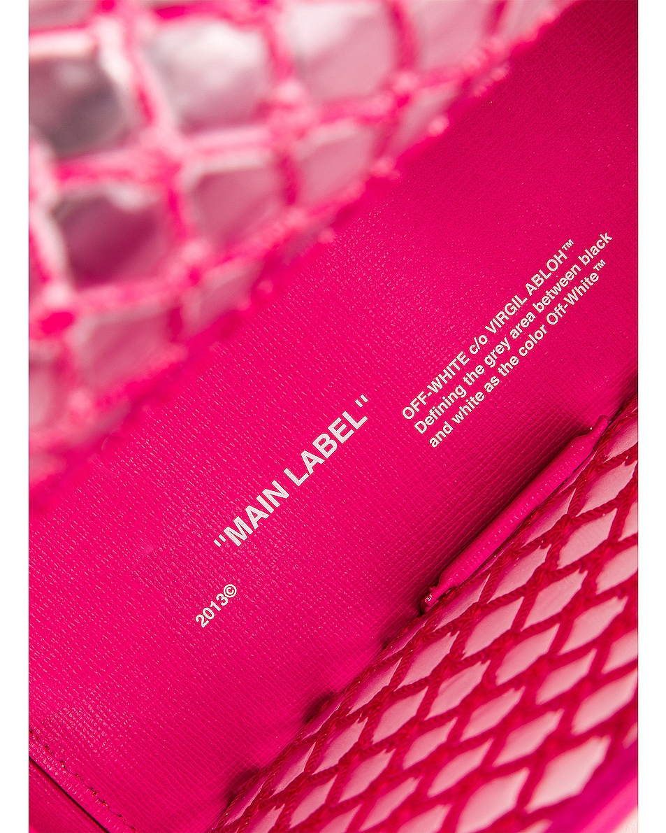 Image 7 of OFF-WHITE PVC Net Flap Bag in Fuchsia