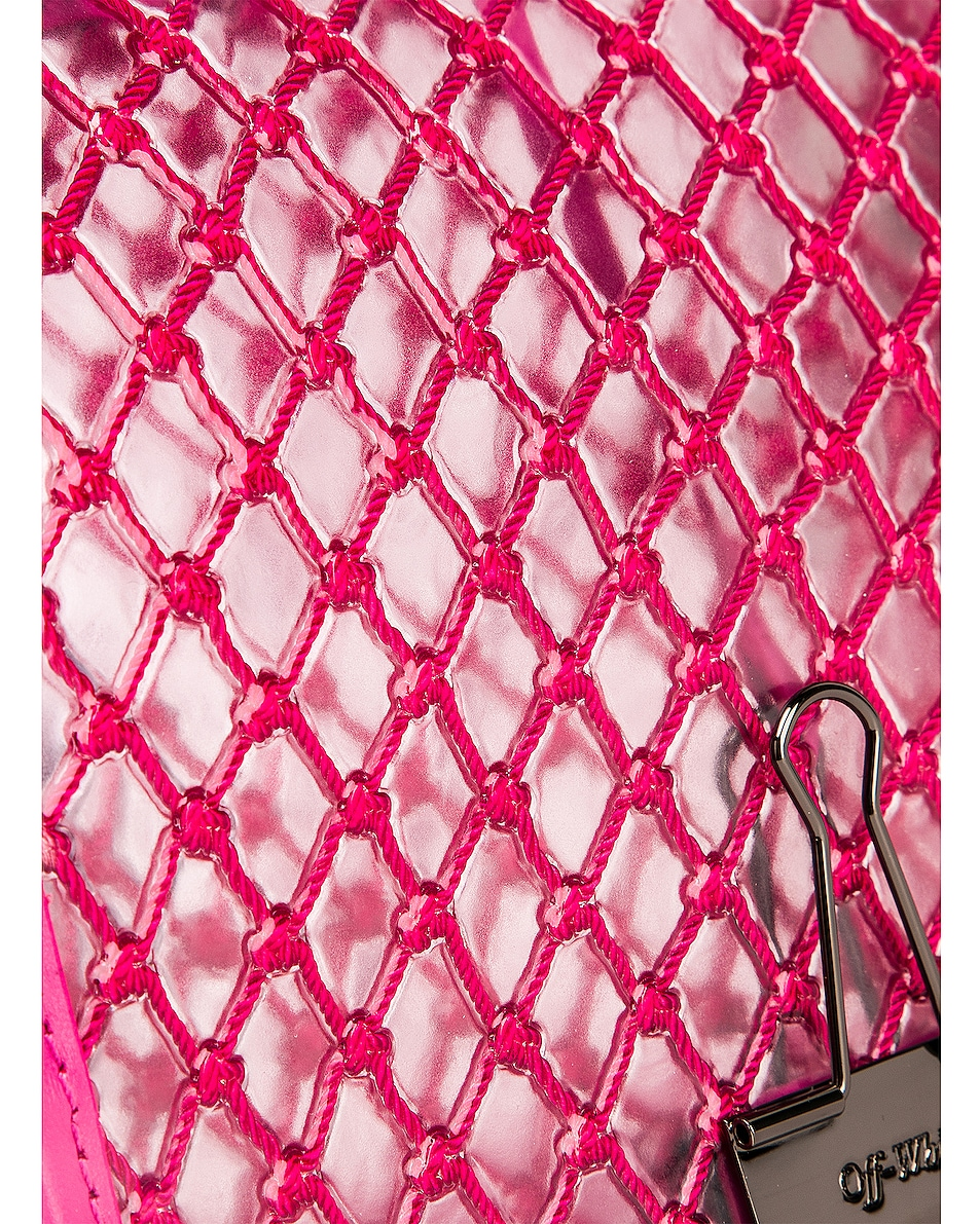 Image 8 of OFF-WHITE PVC Net Flap Bag in Fuchsia