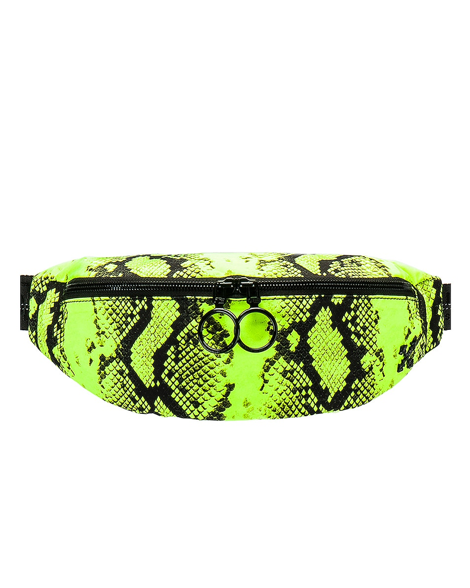 Image 1 of OFF-WHITE Python Fanny Pack in Fluo Yellow