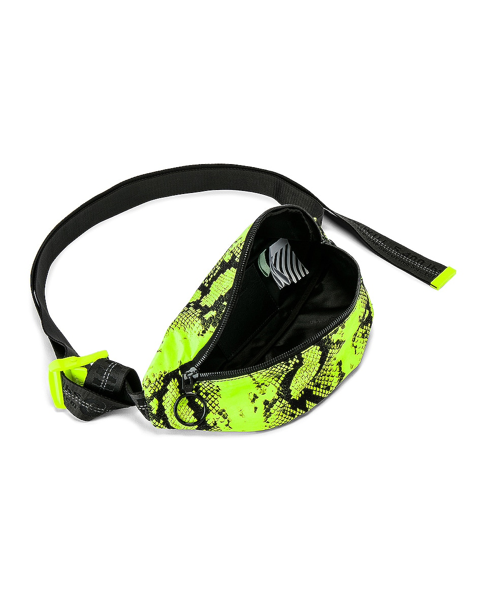 Image 6 of OFF-WHITE Python Fanny Pack in Fluo Yellow
