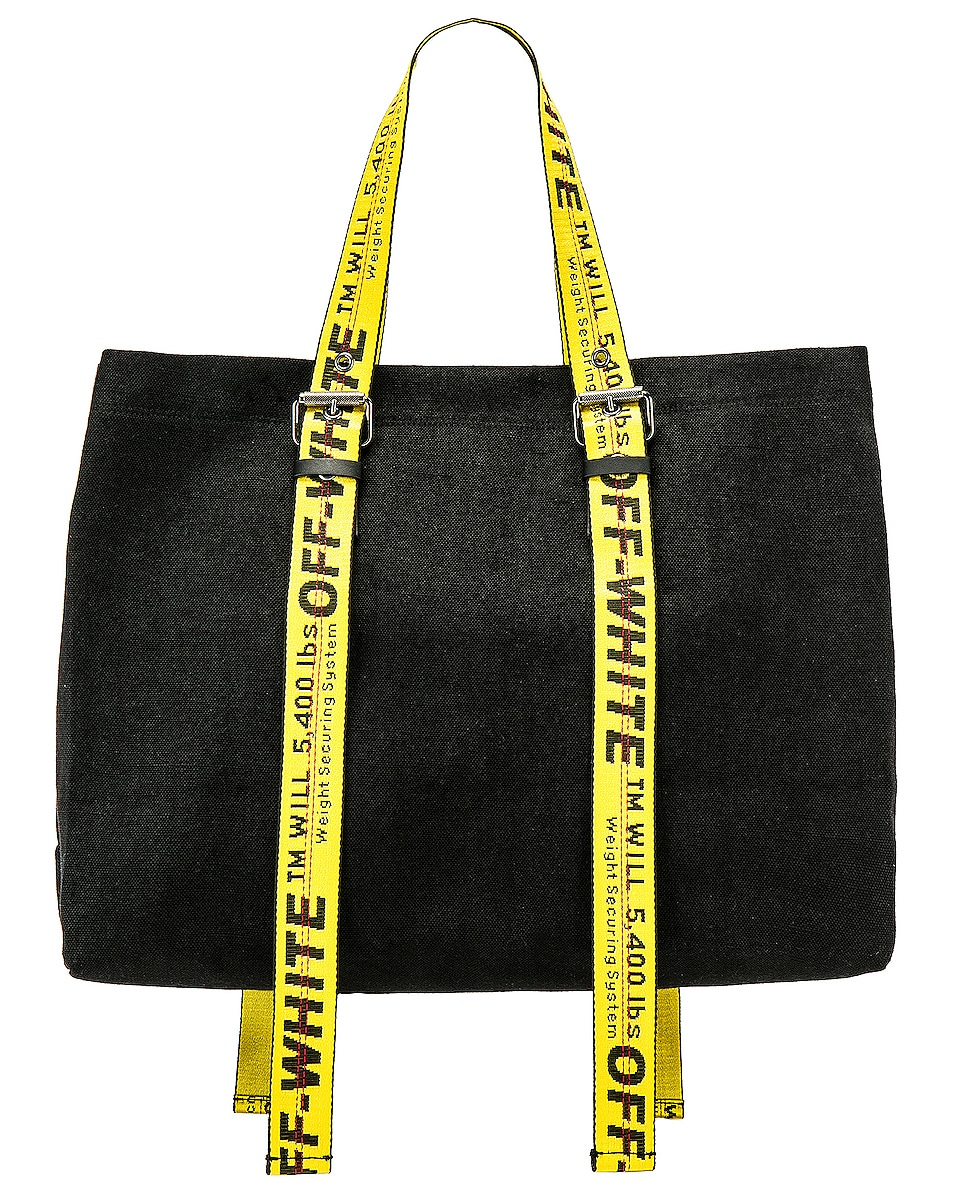 Image 1 of OFF-WHITE Canvas Tote Bag in Black