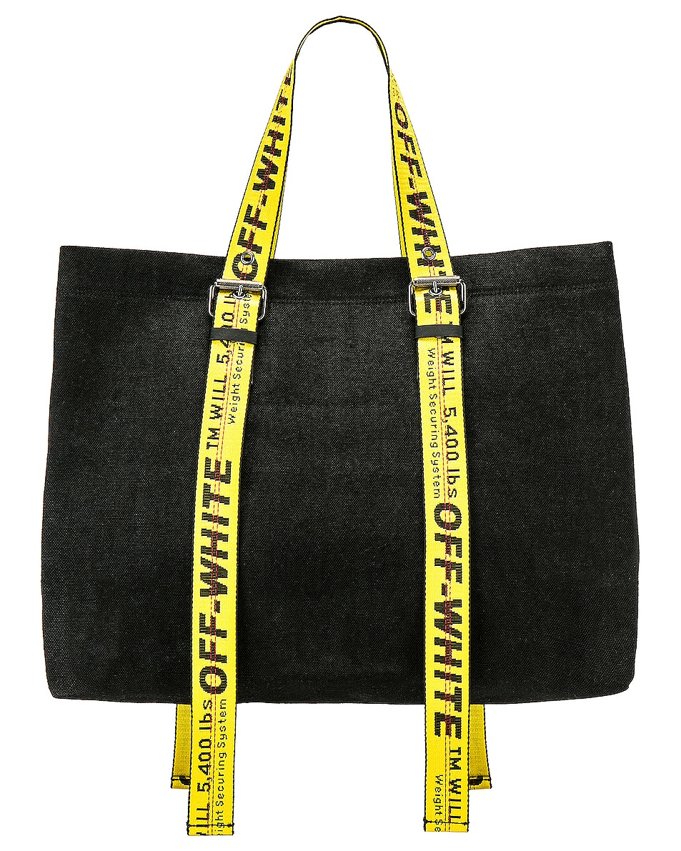 Image 3 of OFF-WHITE Canvas Tote Bag in Black