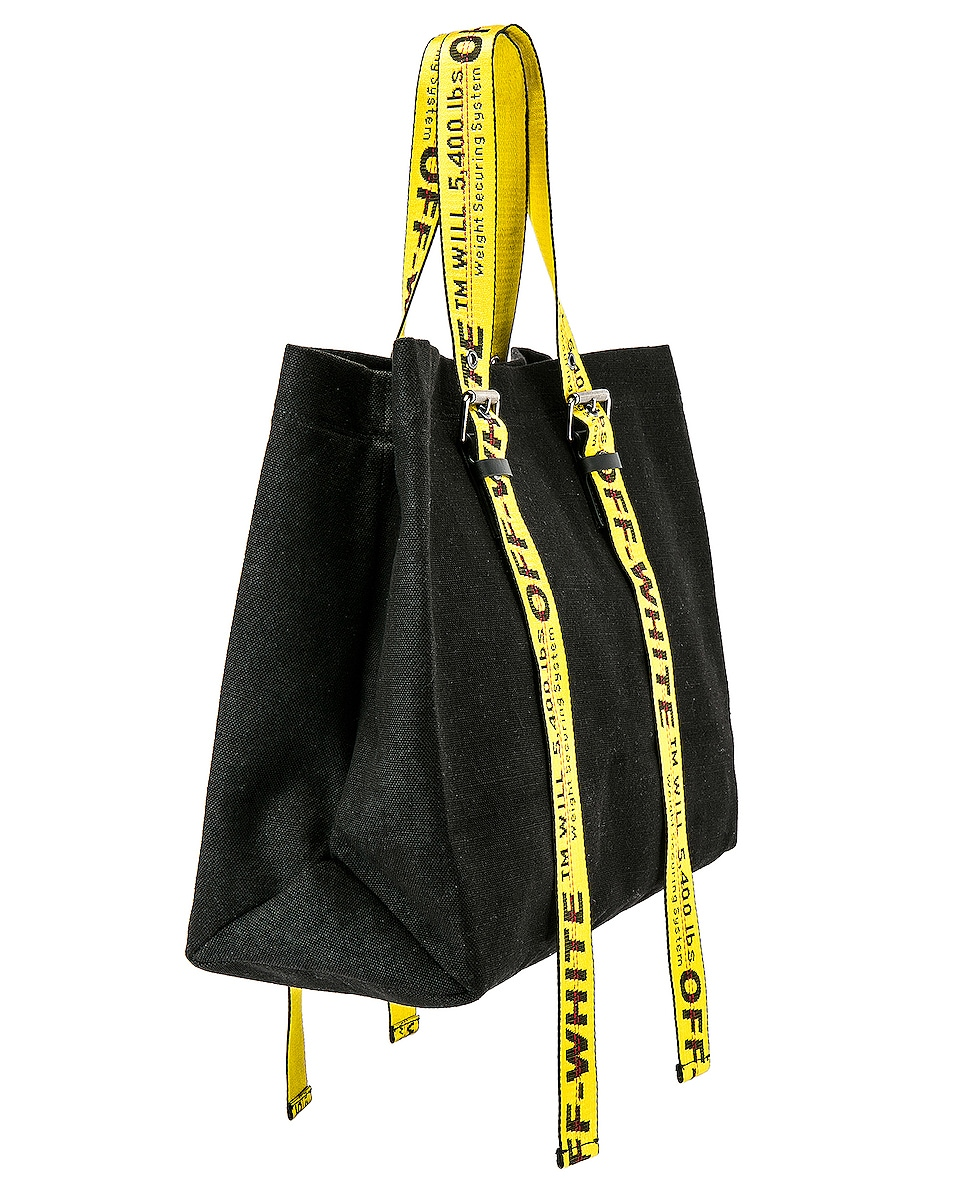 Image 4 of OFF-WHITE Canvas Tote Bag in Black