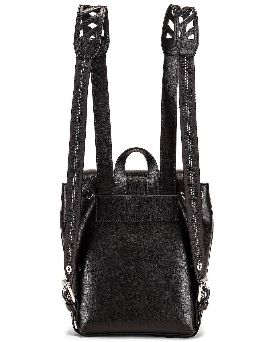 Image 3 of OFF-WHITE Diagonal Mini Backpack in Black & White