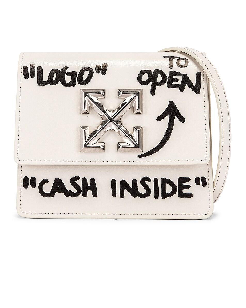 Image 1 of OFF-WHITE Jitney 0.7 Cash Inside Bag in White & Black