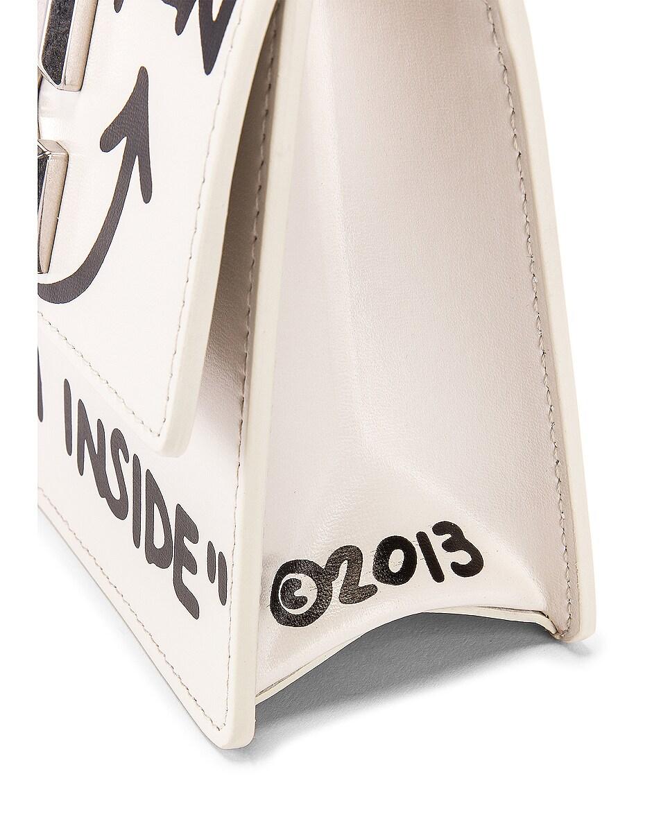 Image 8 of OFF-WHITE Jitney 0.7 Cash Inside Bag in White & Black