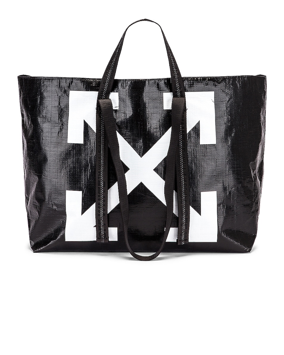 Image 1 of OFF-WHITE New Commercial Tote Bag in Black & White