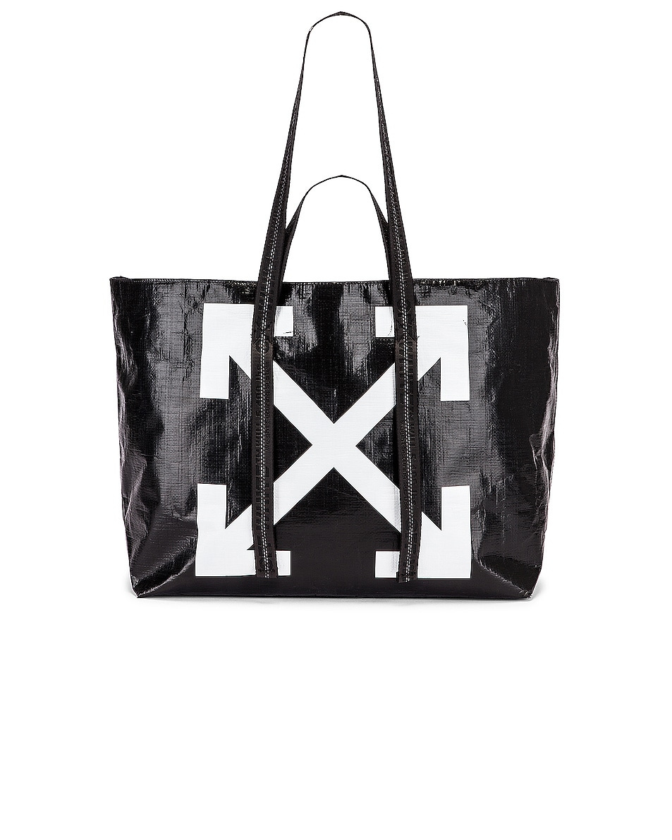 Image 6 of OFF-WHITE New Commercial Tote Bag in Black & White