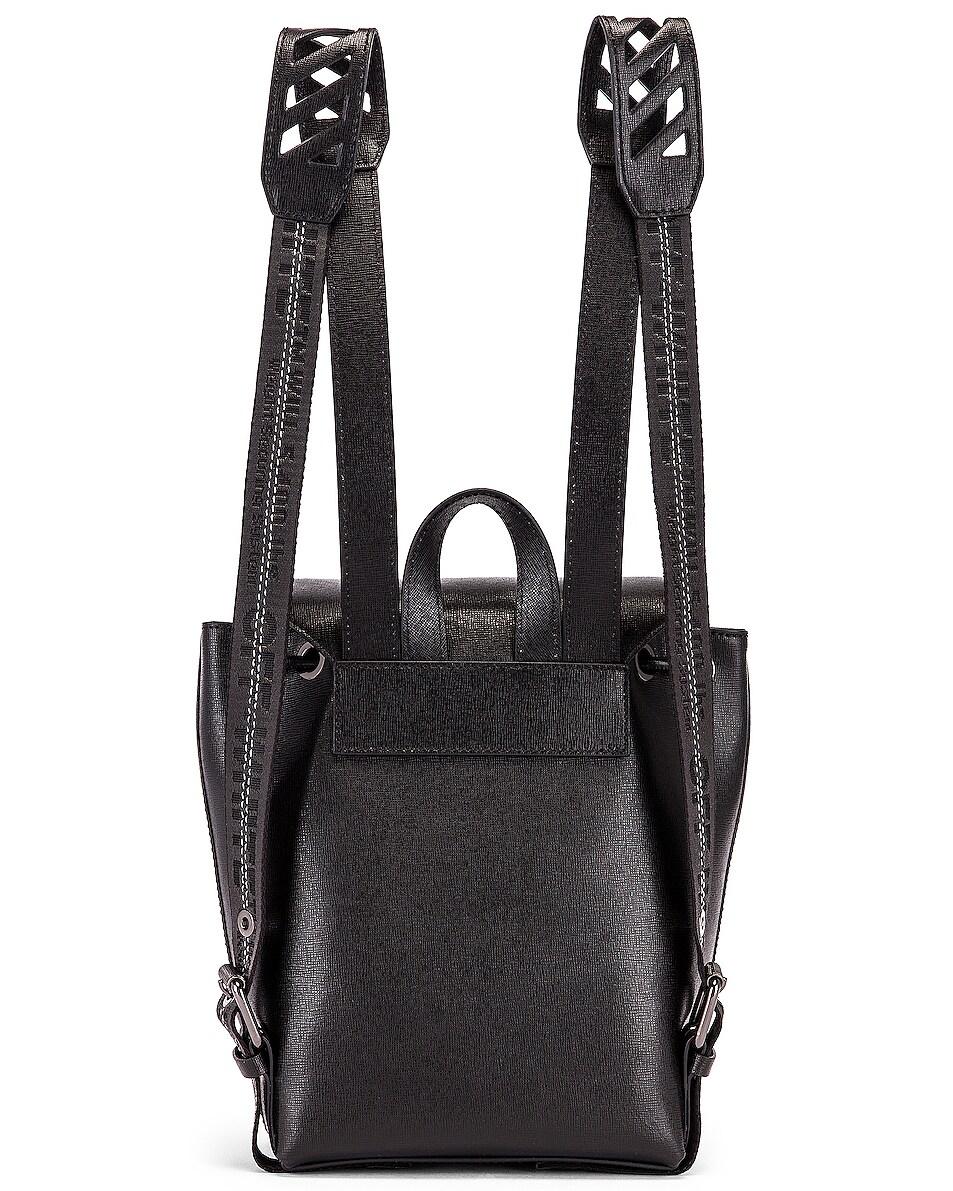 Image 3 of OFF-WHITE Diagonal Binder Backpack in Black & White