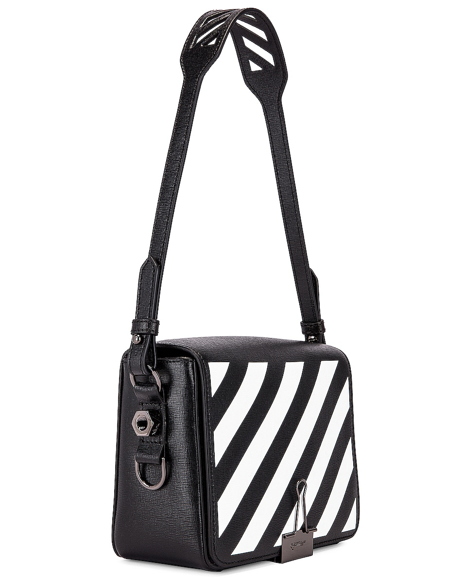 Image 4 of OFF-WHITE Diagonal Flap Bag in Black & White