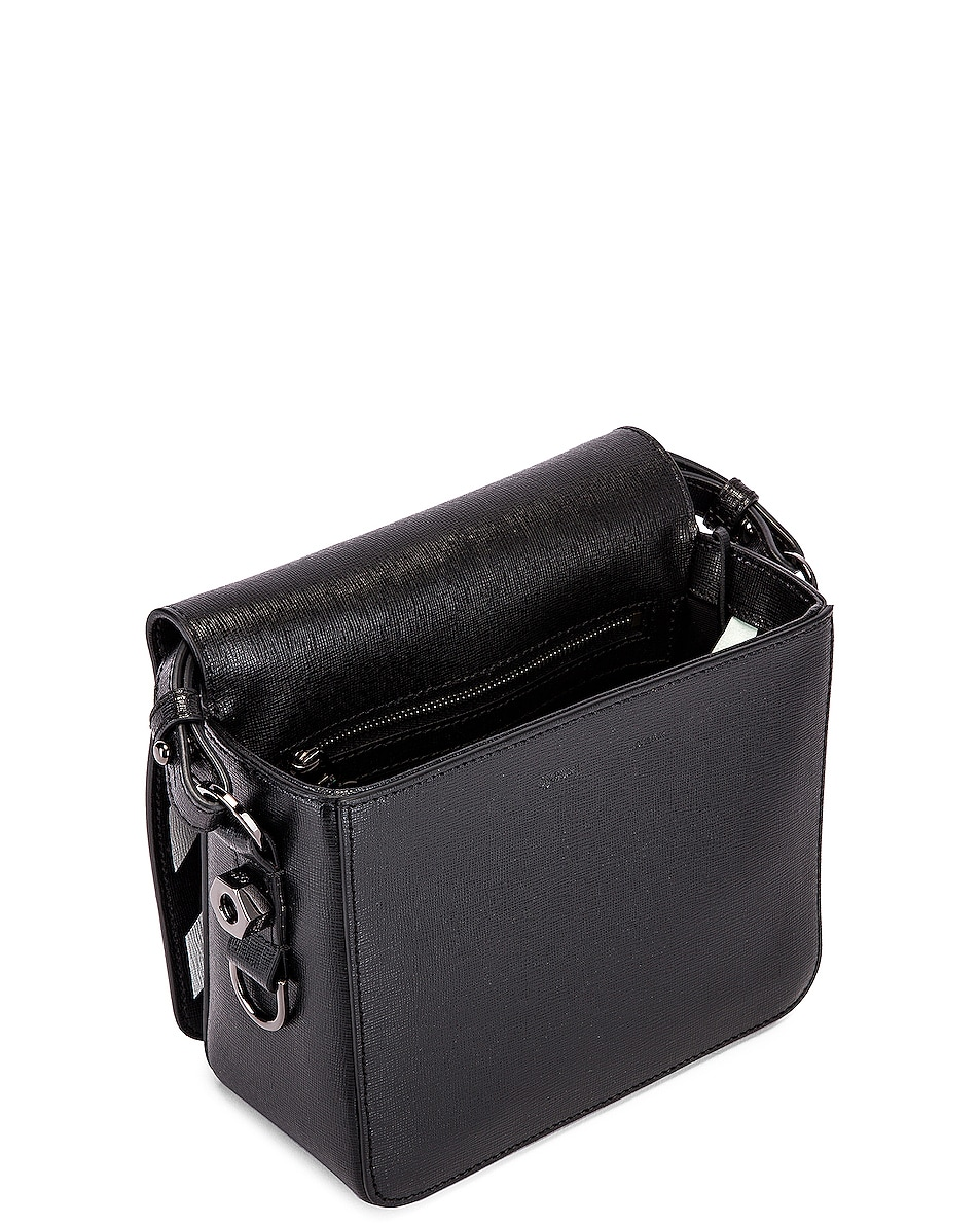 Image 5 of OFF-WHITE Diagonal Flap Bag in Black & White