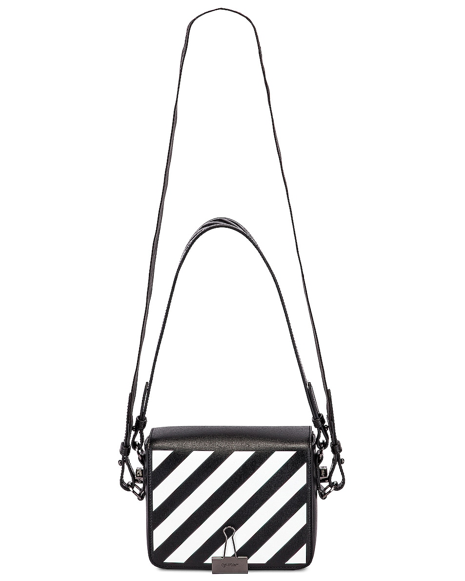 Image 6 of OFF-WHITE Diagonal Flap Bag in Black & White