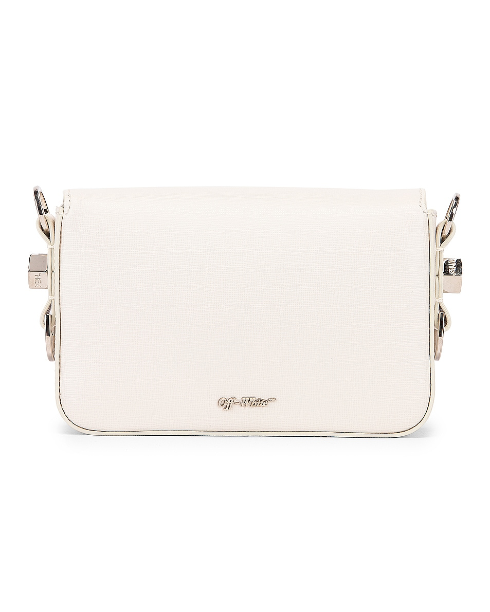 Image 3 of OFF-WHITE Diagonal Mini Flap Bag in White & Black