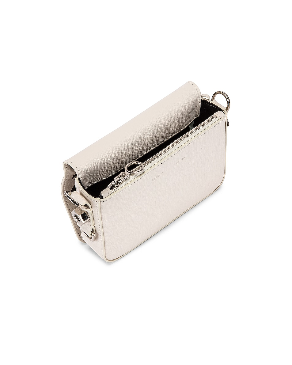 Image 5 of OFF-WHITE Diagonal Mini Flap Bag in White & Black