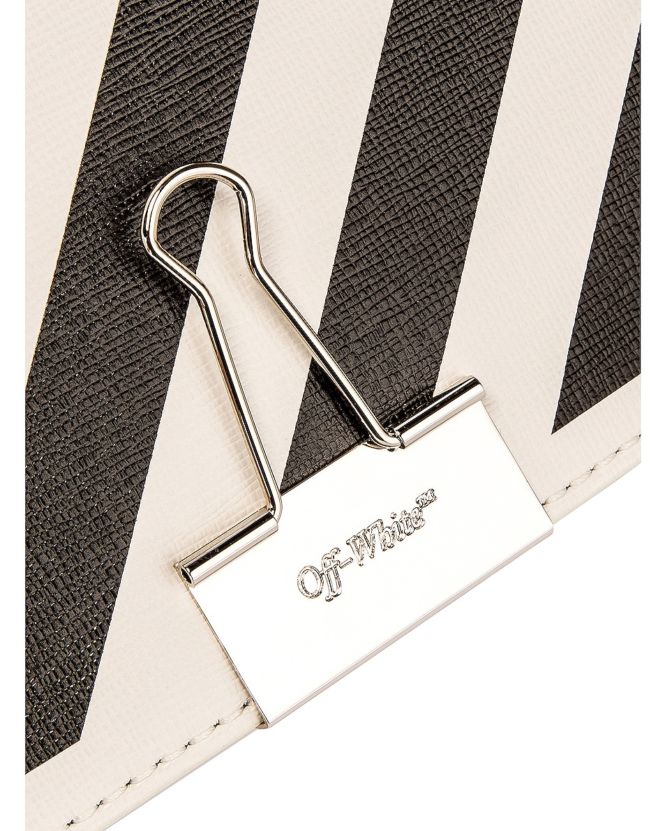 Image 8 of OFF-WHITE Diagonal Mini Flap Bag in White & Black