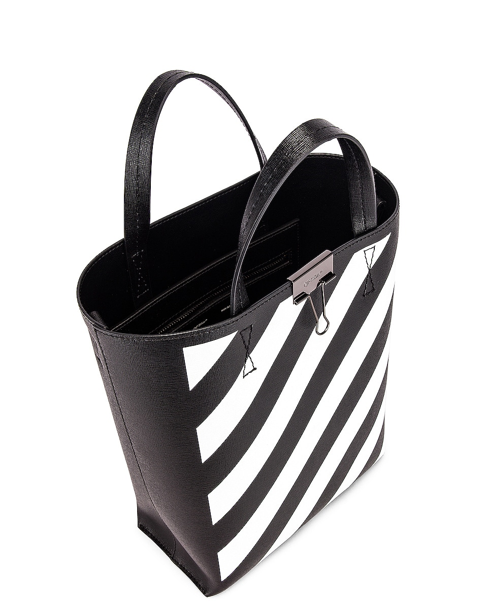 Image 5 of OFF-WHITE Diagonal Tote Bag in Black & White