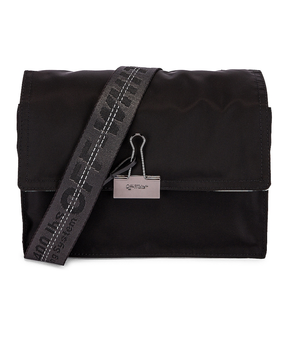 Image 1 of OFF-WHITE Zipped Flap Bag in Black