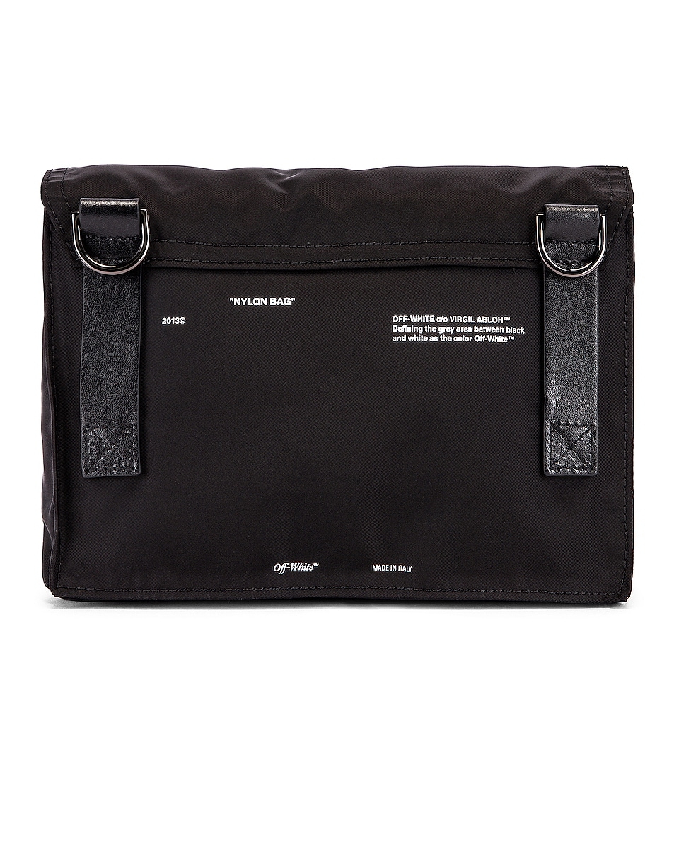 Image 3 of OFF-WHITE Zipped Flap Bag in Black
