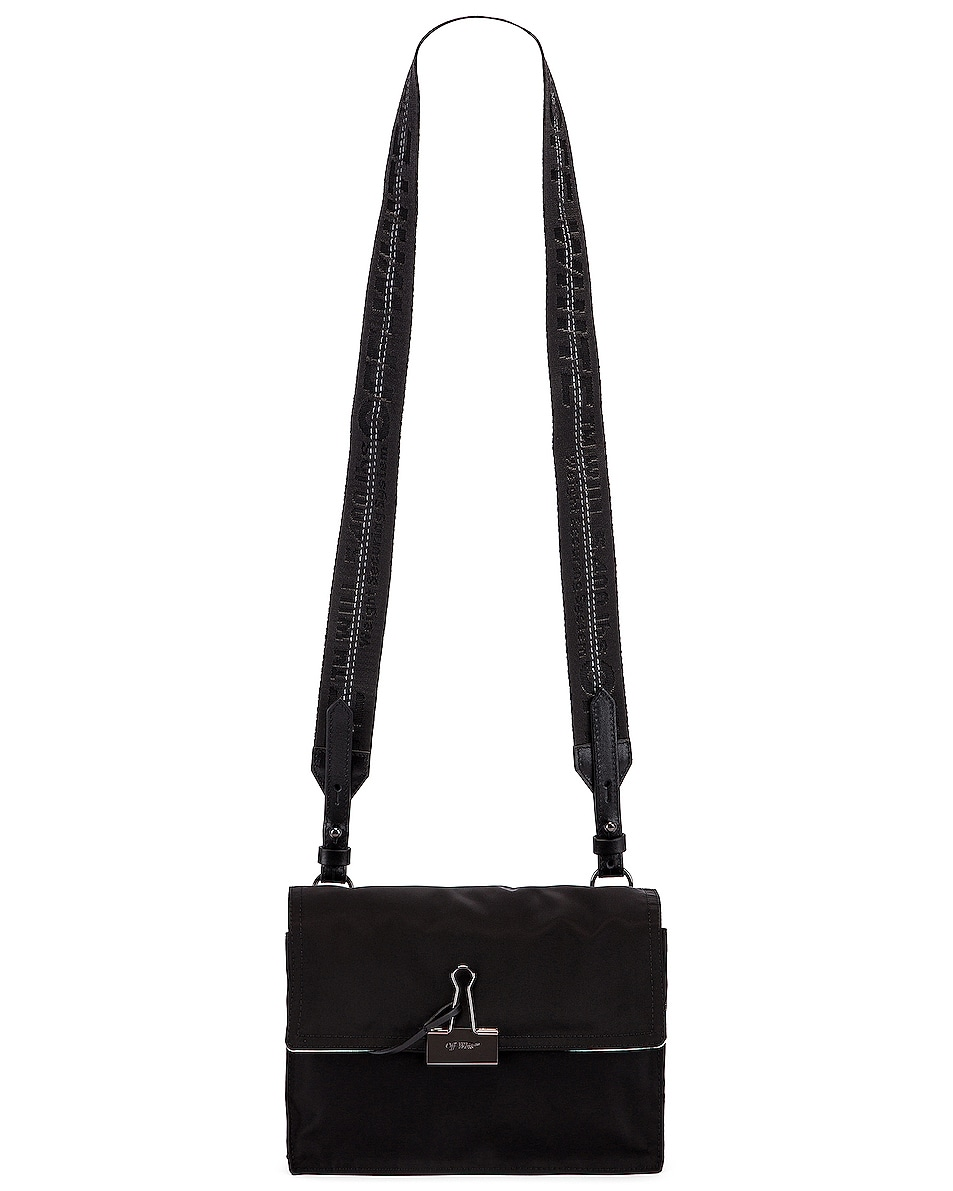 Image 6 of OFF-WHITE Zipped Flap Bag in Black