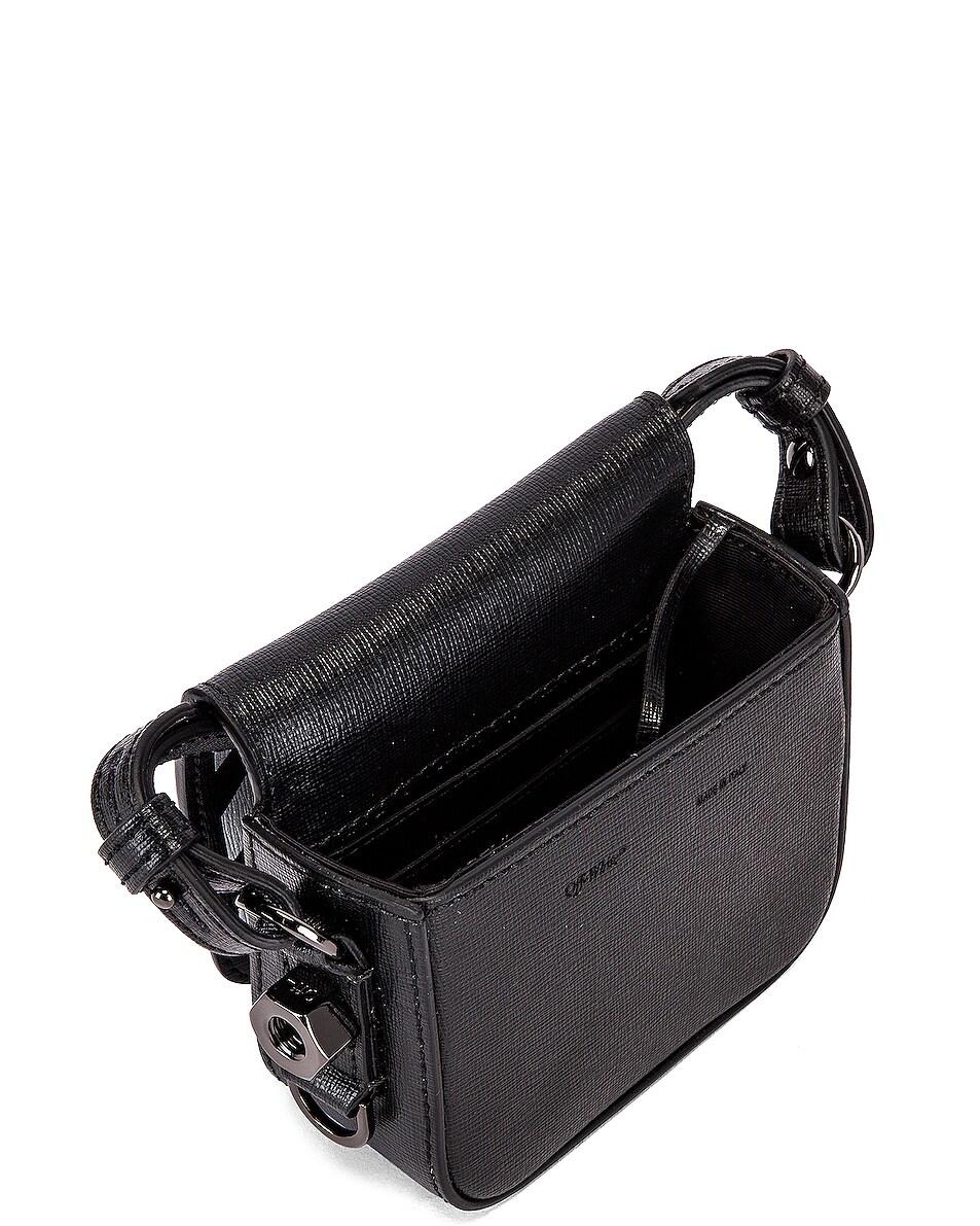 Image 5 of OFF-WHITE Diagonal Baby Flap Bag in Black & White