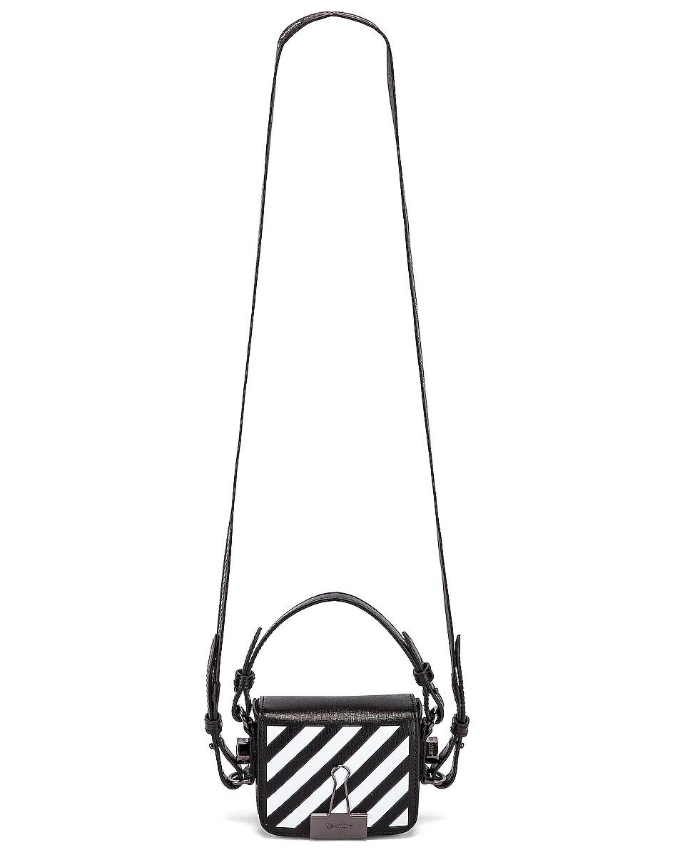 Image 6 of OFF-WHITE Diagonal Baby Flap Bag in Black & White
